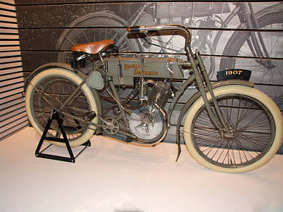 Photograph - Harley  1907 Model 3 by Michiale Schneider