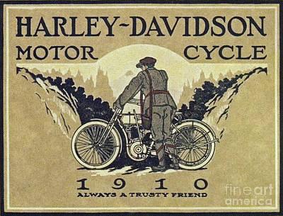 Digital Art - Harley 1910 by Steven Parker
