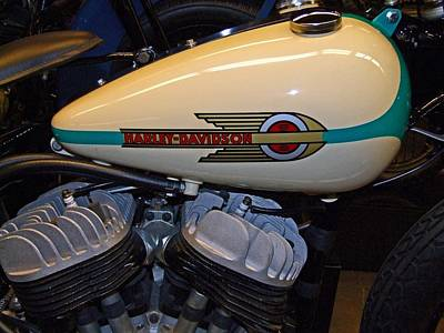 Photograph - Harley 1946 W R Racer Side Valve V-twin by Michiale Schneider