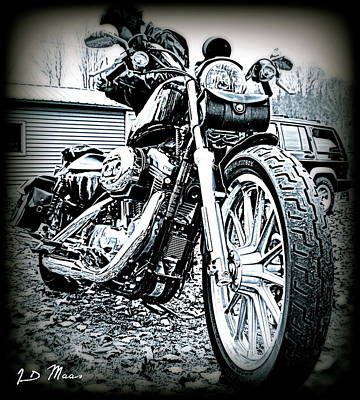 883 Photograph - Harley 883 In Hdr by Jennifer Owens