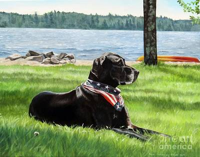 Painting - Harley At The Beach by Heidi Parmelee-Pratt
