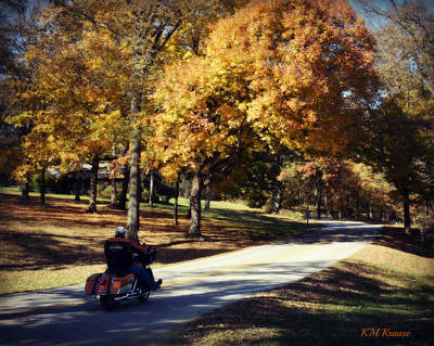 Photograph - Harley Believe It's Fall by Kathy M Krause