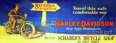 Digital Art - Harley Billboard by Steven Parker