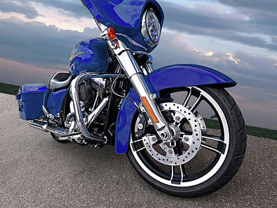 Photograph - Harley Blue Street Glide by Gill Billington
