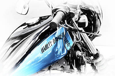 Harley Davidson Photograph - Harley Blue by Tim Gainey