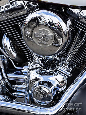 Photograph - Harley Chrome 09 by Rick Piper Photography