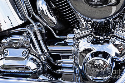 Photograph - Harley Chrome 11 by Rick Piper Photography