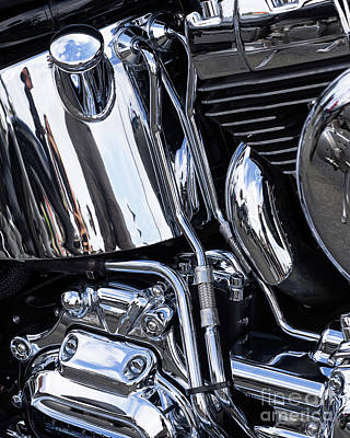 Photograph - Harley Chrome 12 by Rick Piper Photography