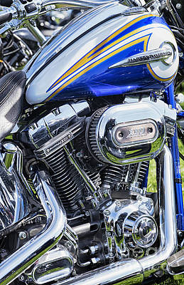 Custom Harley Davidson Photograph - Harley Chrome And Color by Tim Gainey