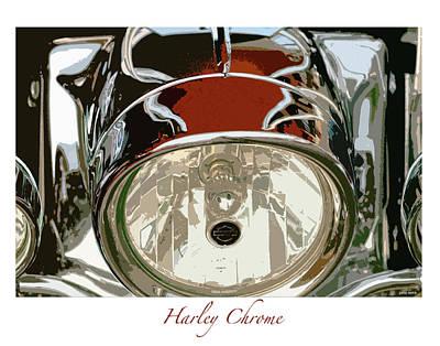 Harley Chrome Art Print