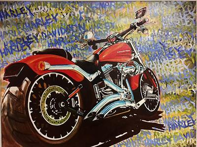 Painting - Harley by David Rhys