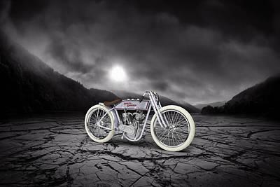 Harley Davidson 11k 1920 Mountains Print by Aged Pixel