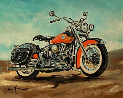 Painting - Harley Davidson 1956 Flh by Luke Karcz