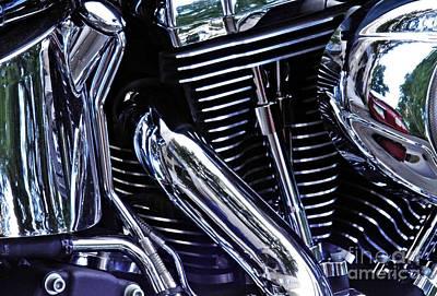 Photograph - Harley Davidson Abstract by Sarah Loft