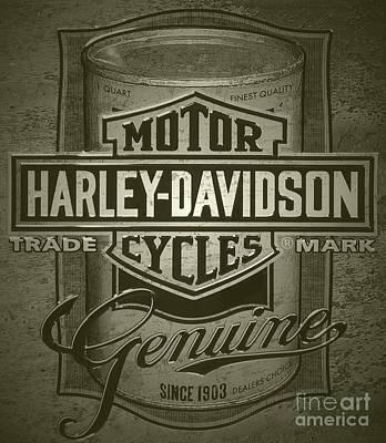 Digital Art - Harley-davidson Advertisement by Steven Parker