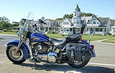 Photograph - Harley Davidson At Oak Bluffs by David Birchall