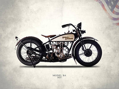 Harley Davidson Photograph - Harley-davidson Ba 1927 by Mark Rogan