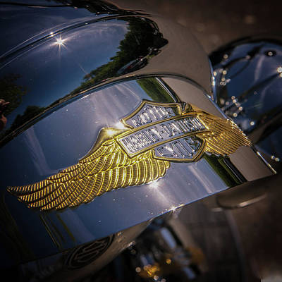 Photograph - Harley Davidson Badge by Samuel M Purvis III