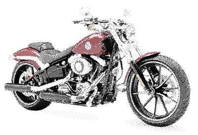 Drawing - Harley-davidson Breakout - Parallel Hatching by Samuel Majcen