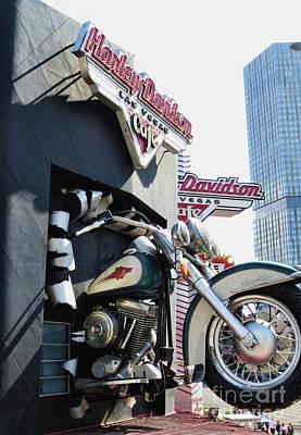 Photograph - Harley Davidson Cafe by Steven Parker