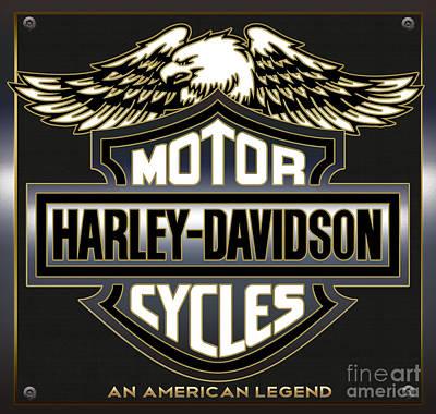 Digital Art - Harley Davidson by Carlos Diaz