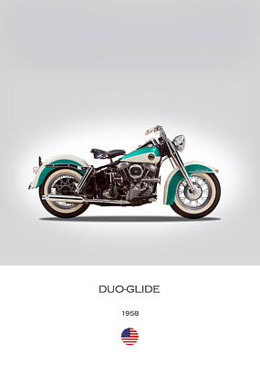 Harley-davidson Duo-glide Art Print by Mark Rogan