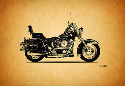Harley Davidson Photograph - Harley Davidson Flstc 1994 by Mark Rogan