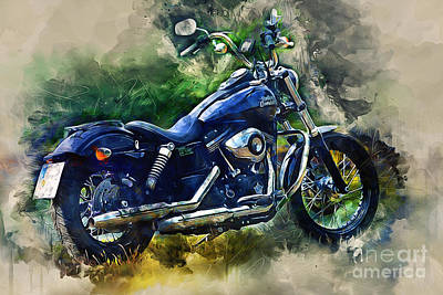 Photograph - Harley Davidson by Ian Mitchell