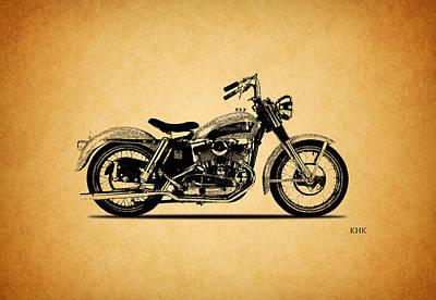 Harley Davidson Photograph - Harley Davidson Khk 1956 by Mark Rogan