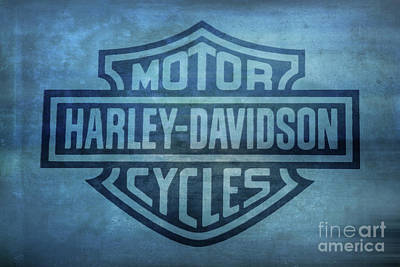 Digital Art - Harley Davidson Logo Ocean Sky by Randy Steele