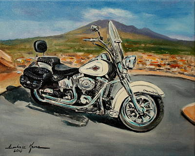 Painting - Harley Davidson by Luke Karcz