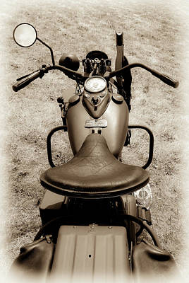 Photograph - Harley Davidson Military Bike by Athena Mckinzie
