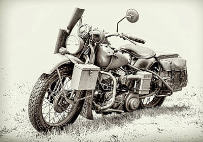 Photograph - Harley Davidson Military Bike II by Athena Mckinzie