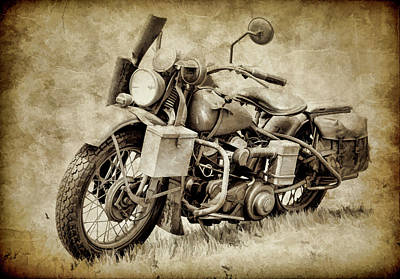 Photograph - Harley Davidson Military Bike IIi by Athena Mckinzie