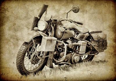 Photograph - Harley Davidson Military Bike IIi by Athena Mckinzie