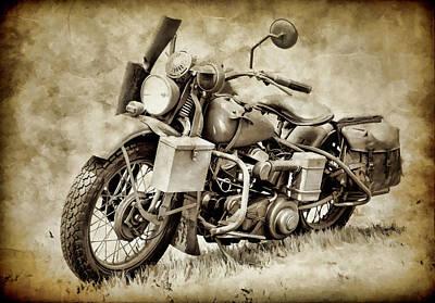 Photograph - Harley Davidson Military Bike Iv by Athena Mckinzie