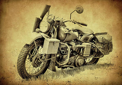 Photograph - Harley Davidson Military Bike V by Athena Mckinzie