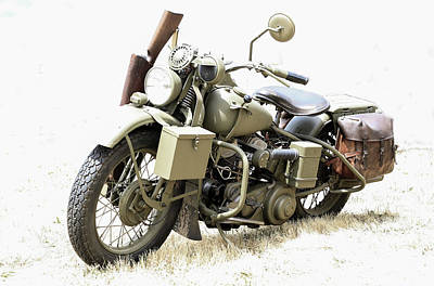 Photograph - Harley Davidson Military Bike Vi by Athena Mckinzie