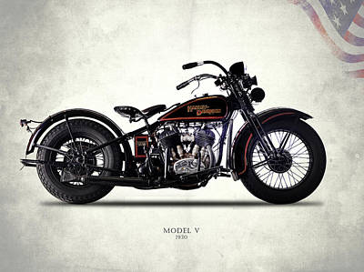 Photograph - Harley-davidson Model V 1930 by Mark Rogan