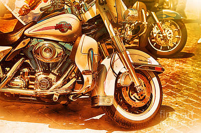 Harley Davidson Motor Cycles Art Print by Stefano Senise
