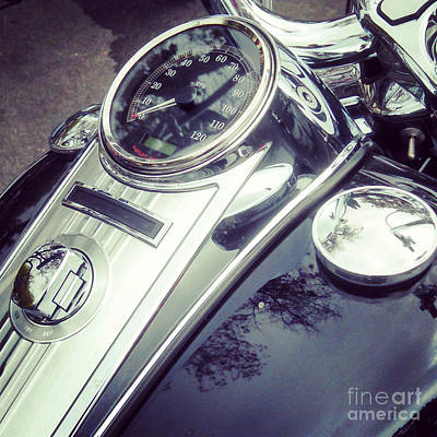 Photograph - Harley Davidson Motorcycle Chrome by Gregory Dyer