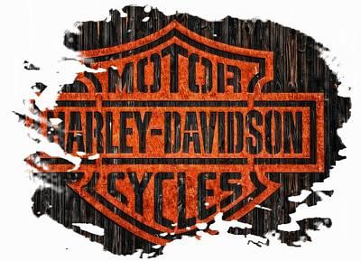 Photograph - Harley Davidson Motorcycles 10 by Jean Francois Gil