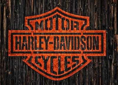 Photograph - Harley Davidson Motorcycles 11 by Jean Francois Gil