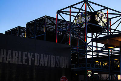 Photograph - Harley Davidson Museum In The Morning by Jeanette Fellows
