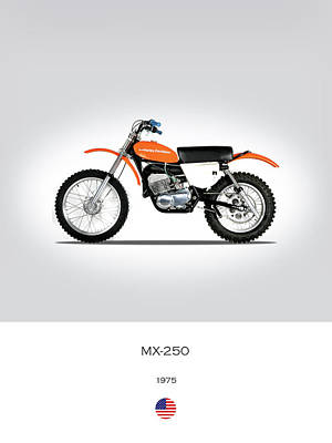 Harley Davidson Photograph - Harley Davidson Mx-250 by Mark Rogan