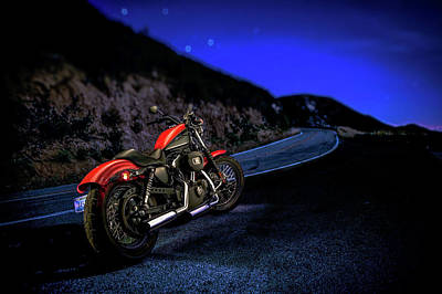 Art Print featuring the photograph Harley Davidson Nightster by YoPedro