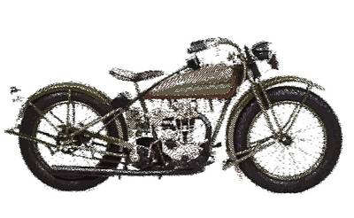 Drawing - Harley-davidson Peashooter  - Parallel Hatching by Samuel Majcen