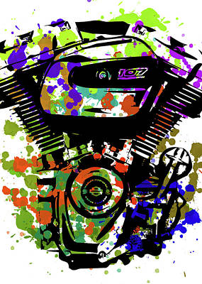 Digital Art - Harley Davidson Pop Art 1 by Ricky Barnard