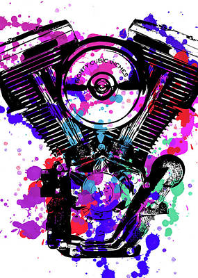 Digital Art - Harley Davidson Pop Art 2 by Ricky Barnard