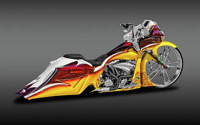 Photograph - Harley Davidson Road Glide Custom  -  Hdcustrdglfa9508 by Frank J Benz